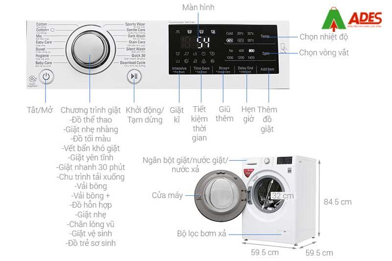 May giat LG Inverter 7.5 kg FC1475N4W