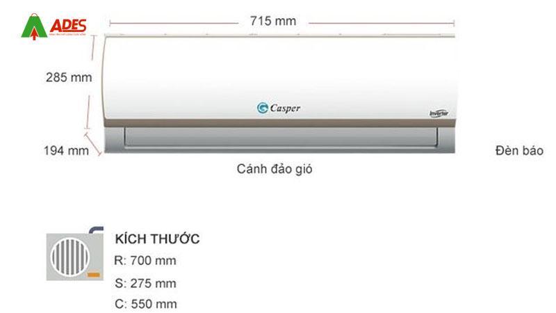 Dieu hoa Casper 1 HP IC-09TL33