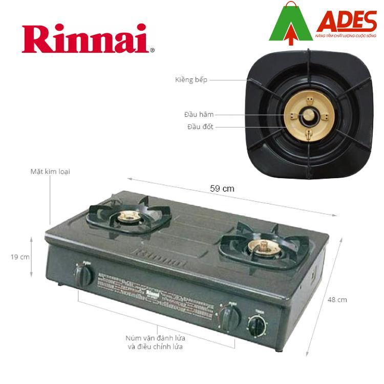 Cau tao bep gas duong Rinnai RV-960GT
